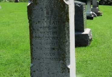 BROCKWAY, HANNAH - Morrow County, Ohio | HANNAH BROCKWAY - Ohio Gravestone Photos