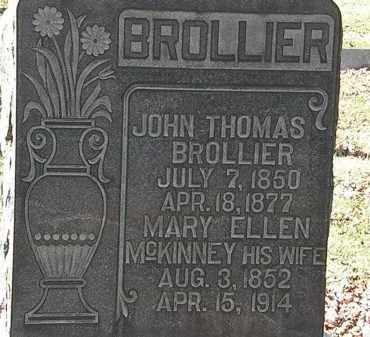 BROLLIER, JOHN THOMAS - Morrow County, Ohio | JOHN THOMAS BROLLIER - Ohio Gravestone Photos