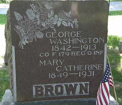 BROWN, MARY CATHERINE - Morrow County, Ohio   MARY CATHERINE BROWN - Ohio Gravestone Photos