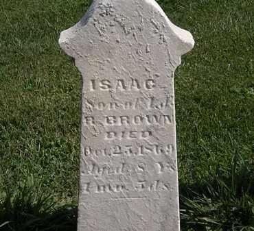 BROWN, ISAAC - Morrow County, Ohio | ISAAC BROWN - Ohio Gravestone Photos