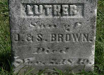 BROWN, LUTHER - Morrow County, Ohio | LUTHER BROWN - Ohio Gravestone Photos