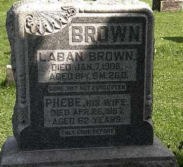 BROWN, LABAN - Morrow County, Ohio | LABAN BROWN - Ohio Gravestone Photos