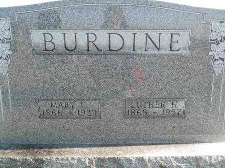 BURDINE, LUTHER H - Morrow County, Ohio   LUTHER H BURDINE - Ohio Gravestone Photos