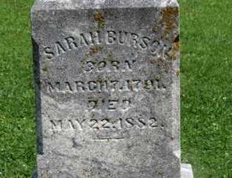 BURSON, SARAH - Morrow County, Ohio | SARAH BURSON - Ohio Gravestone Photos