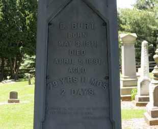 BURT, E. - Morrow County, Ohio   E. BURT - Ohio Gravestone Photos