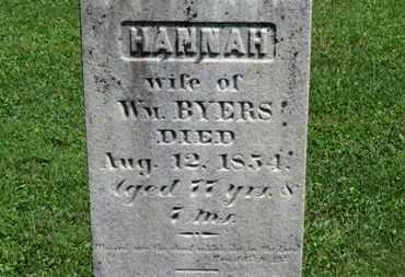 BYERS, HANNAH - Morrow County, Ohio | HANNAH BYERS - Ohio Gravestone Photos