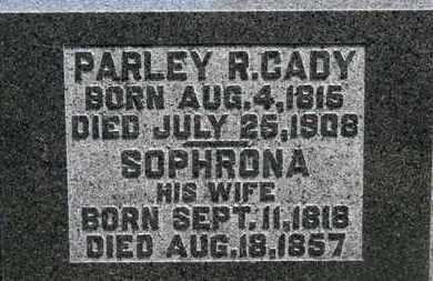 CADY, PARLEY R. - Morrow County, Ohio | PARLEY R. CADY - Ohio Gravestone Photos