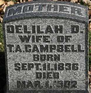 CAMPBELL, DELILAH D. - Morrow County, Ohio | DELILAH D. CAMPBELL - Ohio Gravestone Photos