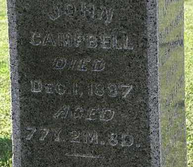CAMPBELL, JOHN - Morrow County, Ohio | JOHN CAMPBELL - Ohio Gravestone Photos
