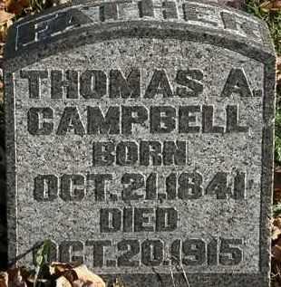 CAMPBELL, THOMAS A. - Morrow County, Ohio | THOMAS A. CAMPBELL - Ohio Gravestone Photos