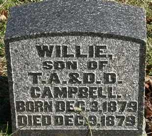 CAMPBELL, WILLIE - Morrow County, Ohio | WILLIE CAMPBELL - Ohio Gravestone Photos