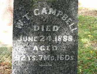 CAMPBELL, W.T. - Morrow County, Ohio   W.T. CAMPBELL - Ohio Gravestone Photos