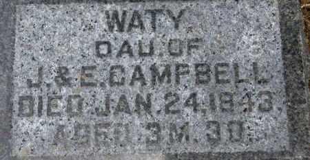 CAMPBELL, WATY - Morrow County, Ohio | WATY CAMPBELL - Ohio Gravestone Photos