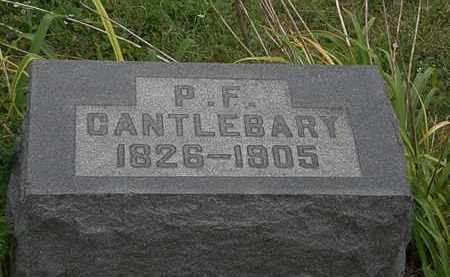 CANTLEBARY, P.F. - Morrow County, Ohio   P.F. CANTLEBARY - Ohio Gravestone Photos