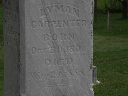 CARPENTER, LYMAN - Morrow County, Ohio   LYMAN CARPENTER - Ohio Gravestone Photos