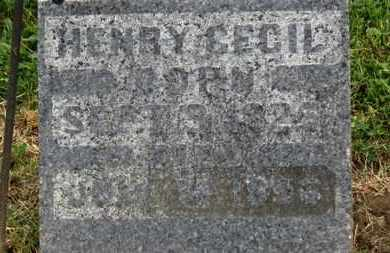 CECIL, HENRY - Morrow County, Ohio   HENRY CECIL - Ohio Gravestone Photos