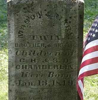 CHAMBERLIN, S.D. - Morrow County, Ohio | S.D. CHAMBERLIN - Ohio Gravestone Photos