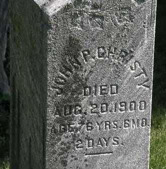 CHRISTY, JOHN P. - Morrow County, Ohio   JOHN P. CHRISTY - Ohio Gravestone Photos