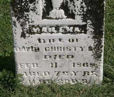 CHRISTY, MARTHA - Morrow County, Ohio | MARTHA CHRISTY - Ohio Gravestone Photos
