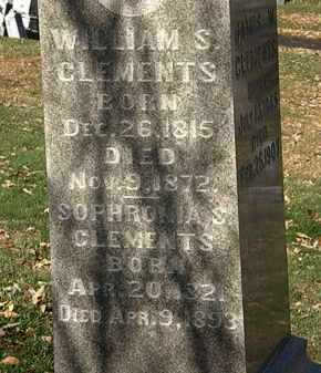 CLEMENTS, WILLIAM S. - Morrow County, Ohio | WILLIAM S. CLEMENTS - Ohio Gravestone Photos