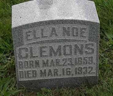 NOE CLEMONS, ELLA - Morrow County, Ohio   ELLA NOE CLEMONS - Ohio Gravestone Photos