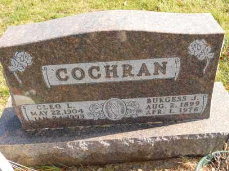 COCHRAN, BURGESS J - Morrow County, Ohio | BURGESS J COCHRAN - Ohio Gravestone Photos