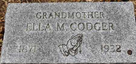 CODGER, ELLA M. - Morrow County, Ohio | ELLA M. CODGER - Ohio Gravestone Photos