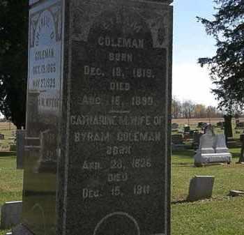 COLEMAN, BYRAM - Morrow County, Ohio | BYRAM COLEMAN - Ohio Gravestone Photos