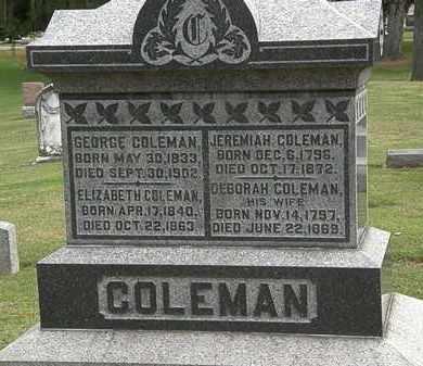 COLEMAN, GEORGE - Morrow County, Ohio | GEORGE COLEMAN - Ohio Gravestone Photos