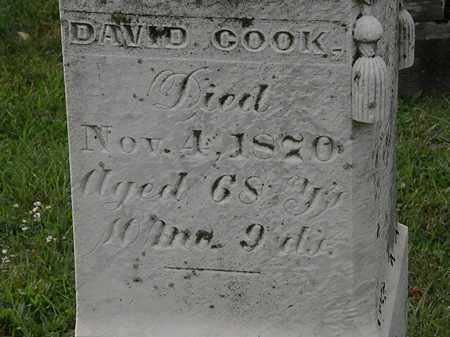 COOK, DAVID - Morrow County, Ohio   DAVID COOK - Ohio Gravestone Photos