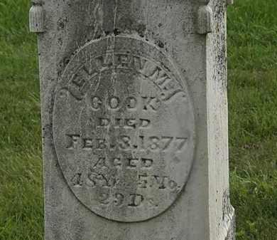 COOK, ELLEN M. - Morrow County, Ohio   ELLEN M. COOK - Ohio Gravestone Photos