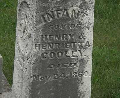 COOLEY, INFANT SON - Morrow County, Ohio | INFANT SON COOLEY - Ohio Gravestone Photos