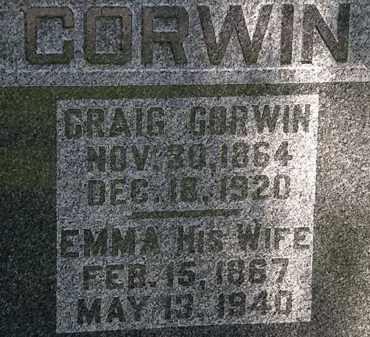 CORWIN, EMMA - Morrow County, Ohio | EMMA CORWIN - Ohio Gravestone Photos