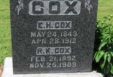 COX, E.H. - Morrow County, Ohio   E.H. COX - Ohio Gravestone Photos