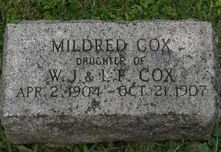 COX, W.J. - Morrow County, Ohio   W.J. COX - Ohio Gravestone Photos
