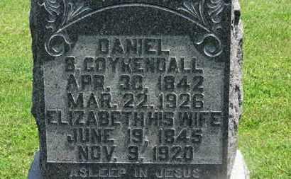 COYKENDALL, DANIEL B. - Morrow County, Ohio | DANIEL B. COYKENDALL - Ohio Gravestone Photos