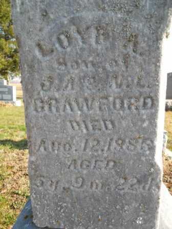 CRAWFORD, LOYD A - Morrow County, Ohio   LOYD A CRAWFORD - Ohio Gravestone Photos