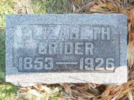 CRIDER, ELIZABETH - Morrow County, Ohio   ELIZABETH CRIDER - Ohio Gravestone Photos