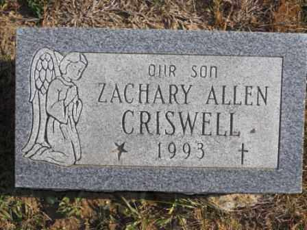 ALLEN CRISWELL, ZACHARY - Morrow County, Ohio | ZACHARY ALLEN CRISWELL - Ohio Gravestone Photos