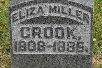 MILLER CROOK, ELIZA - Morrow County, Ohio | ELIZA MILLER CROOK - Ohio Gravestone Photos