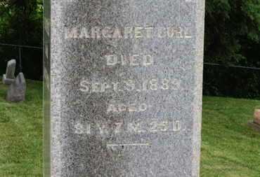CURL, MARGARET - Morrow County, Ohio | MARGARET CURL - Ohio Gravestone Photos