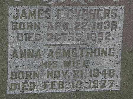 CYPHERS, JAMES F. - Morrow County, Ohio | JAMES F. CYPHERS - Ohio Gravestone Photos