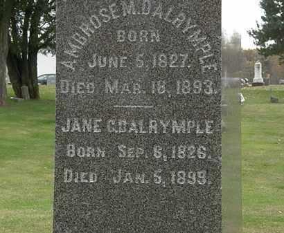 DALRYMPLE, AMBROSE M. - Morrow County, Ohio   AMBROSE M. DALRYMPLE - Ohio Gravestone Photos