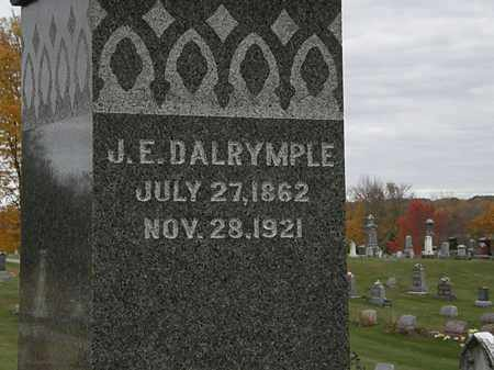 DALRYMPLE, J.E. - Morrow County, Ohio | J.E. DALRYMPLE - Ohio Gravestone Photos