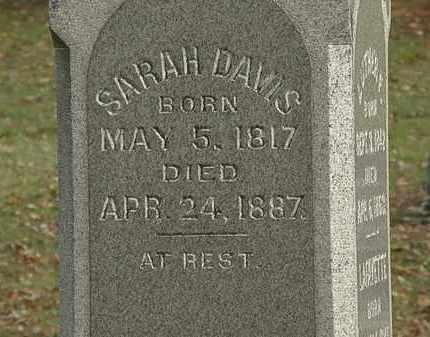 DAVIS, SARAH - Morrow County, Ohio   SARAH DAVIS - Ohio Gravestone Photos