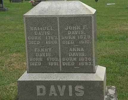 DAVIS, FANNY - Morrow County, Ohio | FANNY DAVIS - Ohio Gravestone Photos