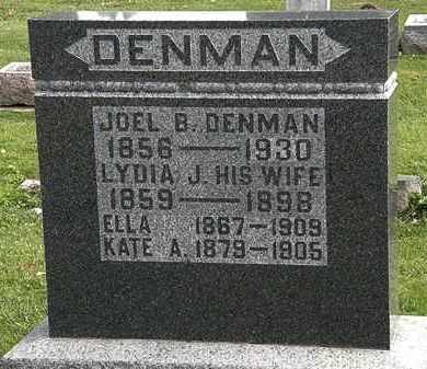 DENMAN, KATE A. - Morrow County, Ohio | KATE A. DENMAN - Ohio Gravestone Photos