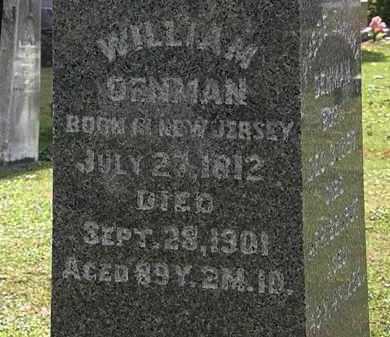 DENMAN, WILLIAM - Morrow County, Ohio   WILLIAM DENMAN - Ohio Gravestone Photos