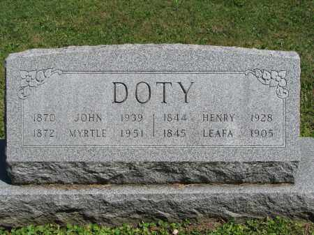 DOTY, MYRTLE - Morrow County, Ohio | MYRTLE DOTY - Ohio Gravestone Photos