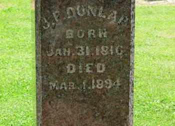 DUNLAP, J.F. - Morrow County, Ohio   J.F. DUNLAP - Ohio Gravestone Photos